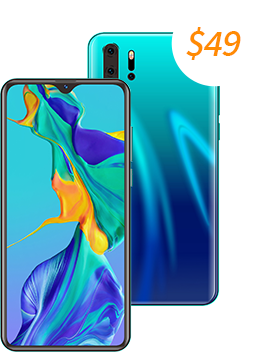 Blend farger bak smartphone