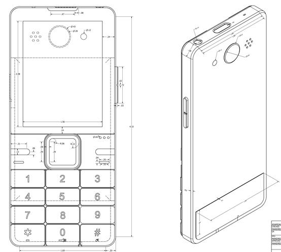 ODM תכונה טלפון עיצוב