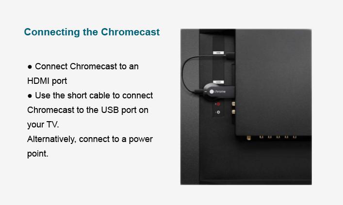 შეაერთეთ თქვენი ტელევიზია Chromecast- ის გამოყენებით