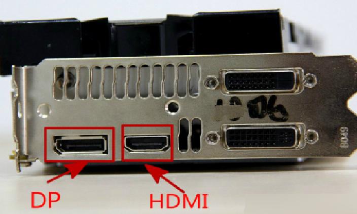 HDMI- og DP-interface