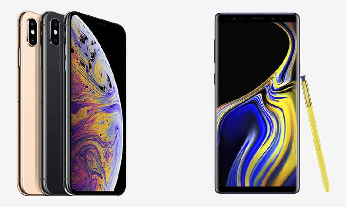 iPhone XS Max vs შენიშვნა 9