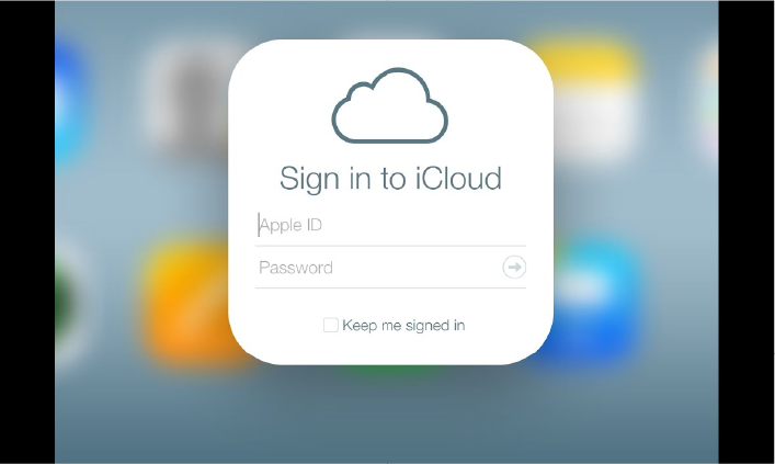 შესვლა iCloud ID