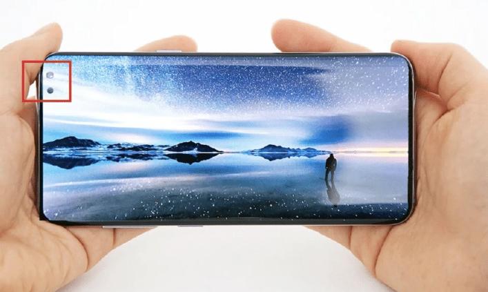 Samsung Galaxy A8s ეკრანი