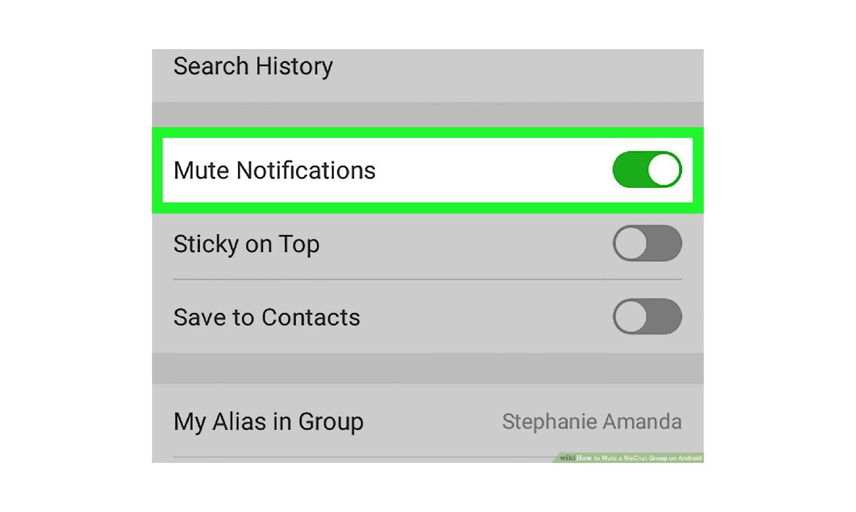 WeChat მუნჯი ჯგუფი შეტყობინება შეტყობინებები